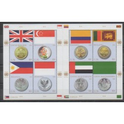 United Nations (UN - New York) - 2008 - Nb 1061/1068 - Flags - Coins, Banknotes Or Medals