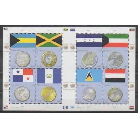 Nations Unies (ONU - New-York) - 2010 - No 1154/1161 - Drapeaux - Monnaies, billets ou médailles