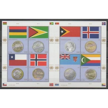 Nations Unies (ONU - New-York) - 2011 - No 1220/1227 - Drapeaux - Monnaies, billets ou médailles