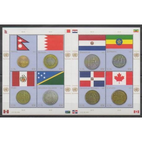 Nations Unies (ONU - New-York) - 2012 - No 1267/1274 - Drapeaux - Monnaies, billets ou médailles