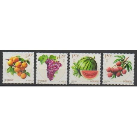 Chine - 2016 - No 5350/5353 - Fruits