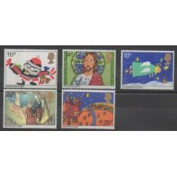 Grande-Bretagne - 1981 - No 1011/1015 - Noël - Dessins d'enfants