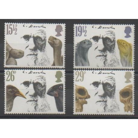 Grande-Bretagne - 1982 - No 1023/1026 - Sciences et Techniques - Célébrités
