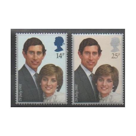 Grande-Bretagne - 1981 - No 1001/1002 - Royauté - Principauté