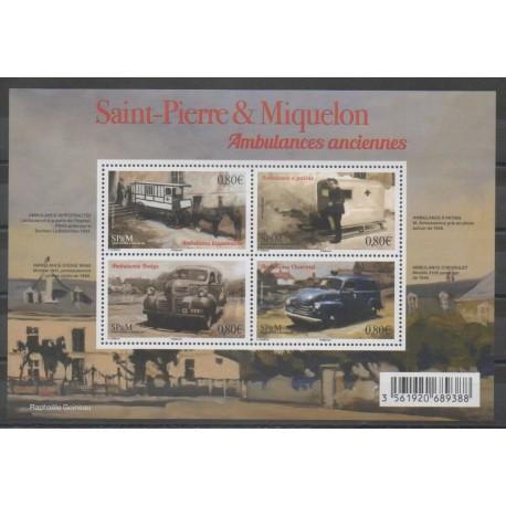 Saint-Pierre et Miquelon - Blocs et feuillets - 2016 - No F1166 - Voitures