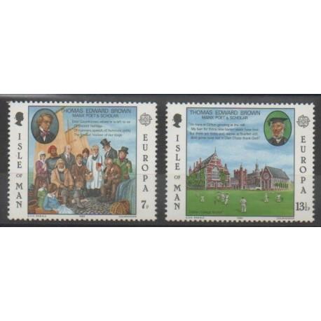 Man (Ile de) - 1980 - No 157/158 - Célébrités - Europa