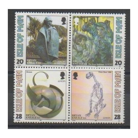 Man (Ile de) - 1993 - No 582/585 - Art - Europa
