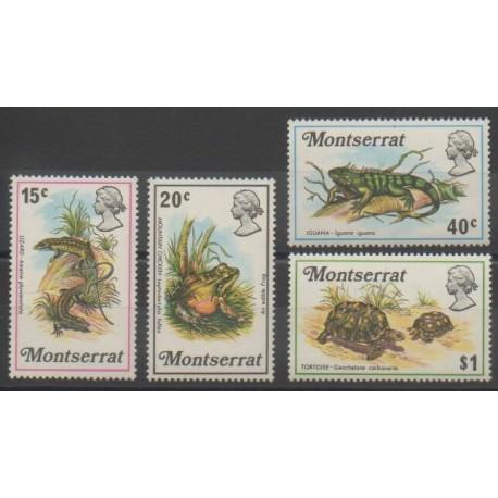 Montserrat - 1972 - No 278/281 - Reptiles