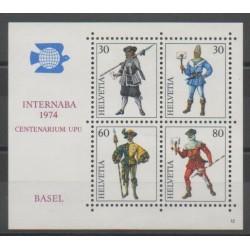 Suisse - 1974 - No BF22 - Costumes Uniformes