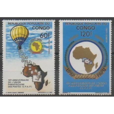 Congo (République du) - 1991 - No 405/406 - Poste