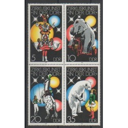 Allemagne orientale (RDA) - 1978 - No 2034/2037 - Cirque