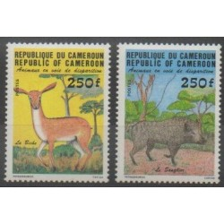 Cameroon - 1984 - Nb 740/741 - Mamals