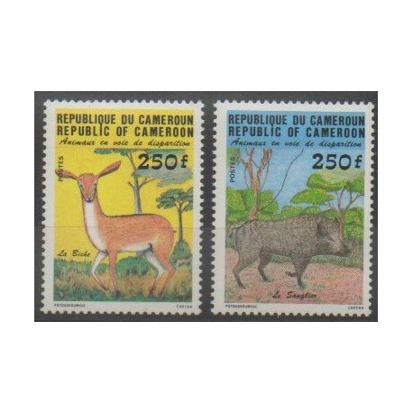 Cameroun - 1984 - No 740/741 - Mammifères