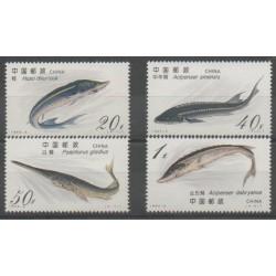 Chine - 1994 - No 3207/3210 - Animaux marins
