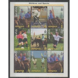 Mongolie - 2001 - No 2556A/2556J - Sports divers - Enfance