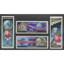 Mongolia - 1961 - Nb 193/196 - Space
