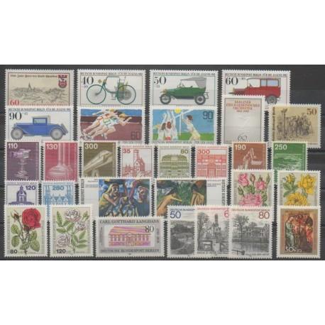 Allemagne occidentale (RFA - Berlin) - Année complète - 1982 - No 620/649