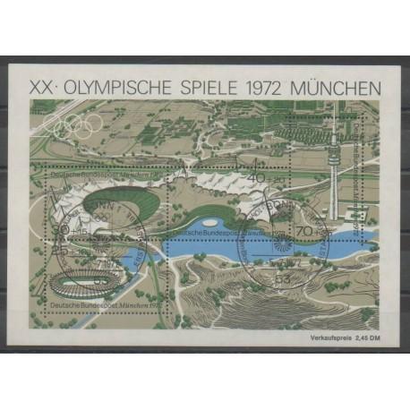 Allemagne occidentale (RFA) - 1972 - No BF6 - Jeux Olympiques d'été - Oblitéré