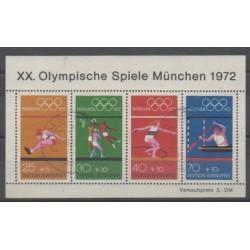 Allemagne occidentale (RFA) - 1972 - No BF7 - Jeux Olympiques d'été - Oblitéré