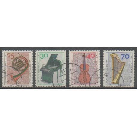 Allemagne occidentale (RFA) - 1973 - No 631/634 - Musique - Oblitéré