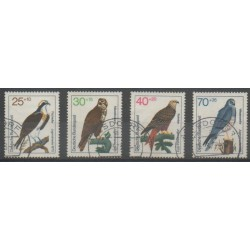 Allemagne occidentale (RFA) - 1973 - No 604/607 - Oiseaux - Oblitéré
