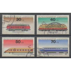 Allemagne occidentale (RFA) - 1975 - No 685/688 - Chemins de fer - Oblitéré
