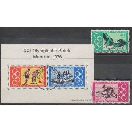 Allemagne occidentale (RFA) - 1976 - No 736/737 - BF11 - Jeux Olympiques d'été - Oblitéré