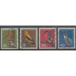 Allemagne occidentale (RFA) - 1963 - No 273/276 - Oiseaux - Oblitéré