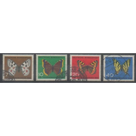 Allemagne occidentale (RFA) - 1962 - No 248/251 - Insectes - Oblitéré