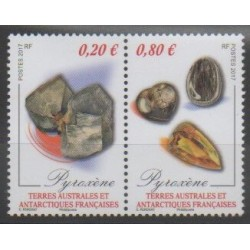 French Southern and Antarctic Territories - Post - 2017 - Nb 796/797 - Minerals - Gems