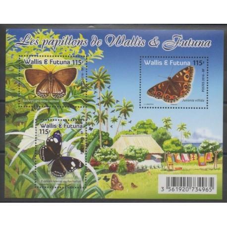 Wallis et Futuna - Blocs et feuillets - 2016 - No F855 - Insectes