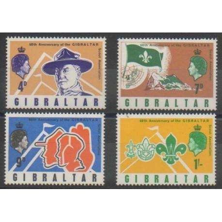 Gibraltar - 1968 - No 207/210 - Scoutisme