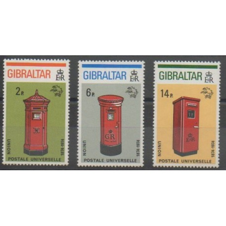 Gibraltar - 1974 - No 305/307 - Poste