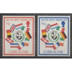 Gibraltar - 1973 - No 292/293 - Drapeaux