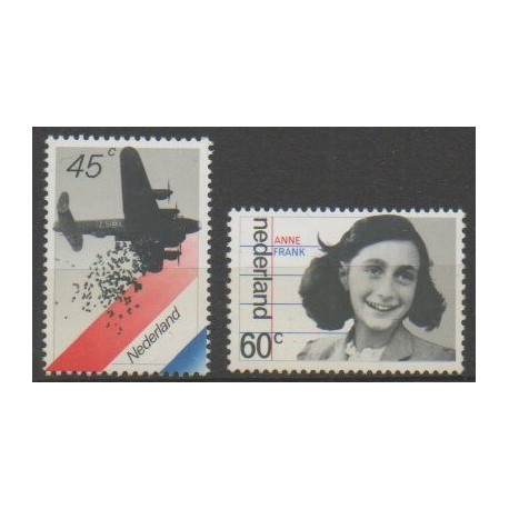 Pays-Bas - 1980 - No 1129/1130 - Seconde Guerre Mondiale