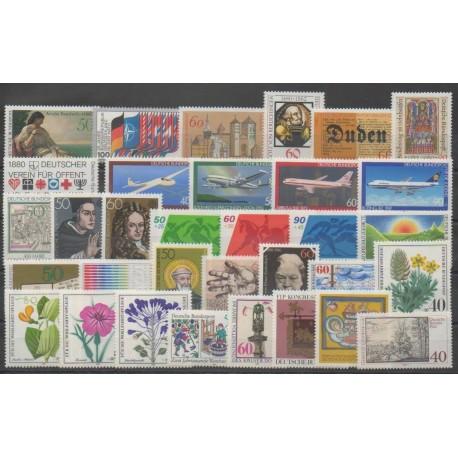 Allemagne occidentale (RFA) - Année complète - 1980 - No 881/913