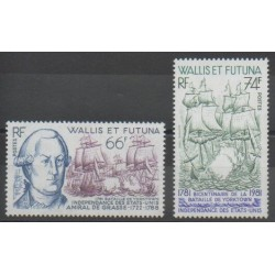 Wallis and Futuna - 1981 - Nb 277/278 - Boats - Various Historics Themes
