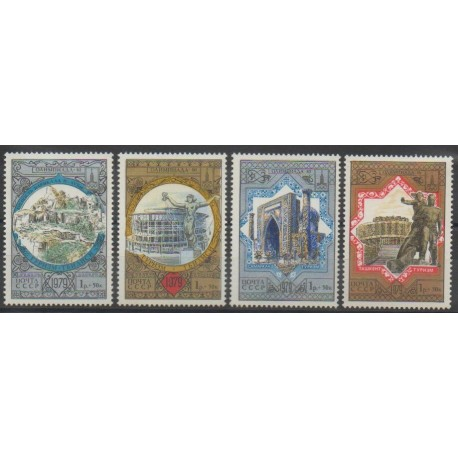 Russie - 1979 - No 4617/4620 - Monuments