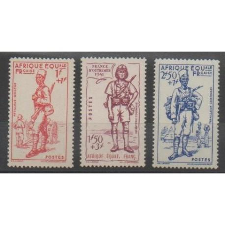 Afrique Equatoriale Française - 1941 - No 87/89