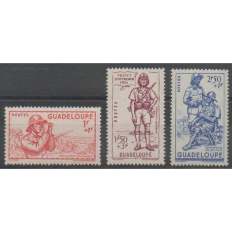 Guadeloupe - 1941 - No 158/160 - Neuf avec charnière