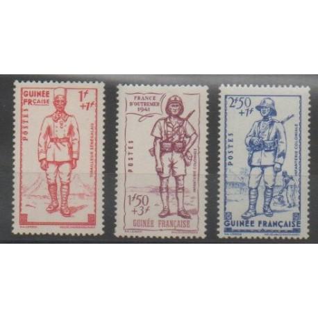 Guinée - 1941 - No 169/171 - Neuf avec charnière