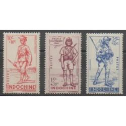 Indochine - 1941 - No 219/221 - Neuf avec charnière