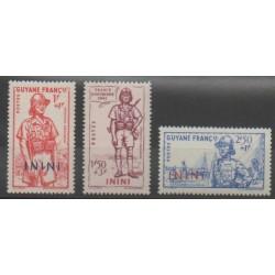 Inini - 1941 - No 48/50 - Neuf avec charnière