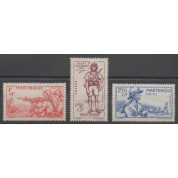 Martinique - 1941 - Nb 186/188 - Mint hinged