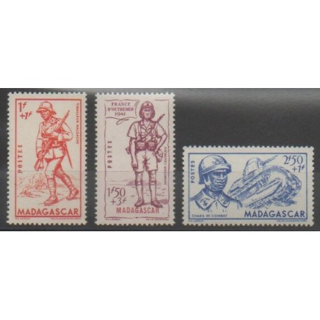 Madagascar - 1941 - No 226/228 - Neuf avec charnière
