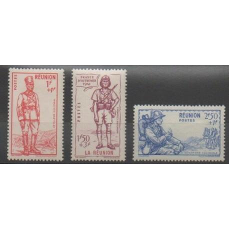 Réunion - 1941 - No 175/177 - Neuf avec charnière
