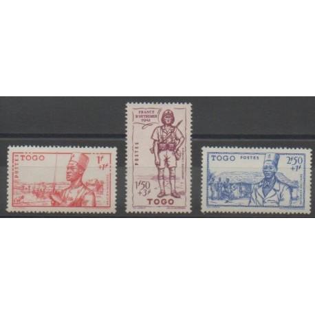 Togo - 1941 - No 208/210 - Neuf avec charnière