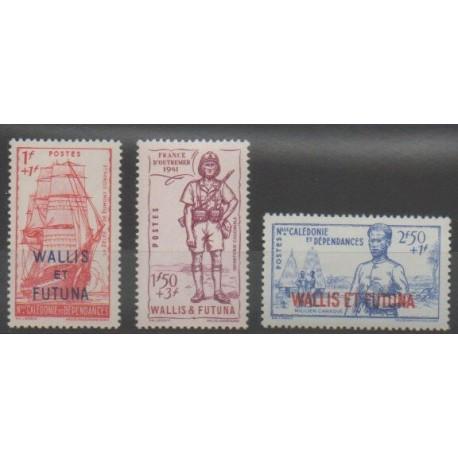 Wallis et Futuna - 1941 - No 87/89 - Neuf avec charnière
