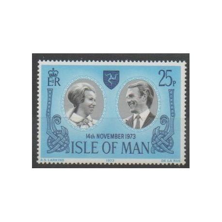 Man (Ile de) - 1973 - No 24 - Royauté - Principauté