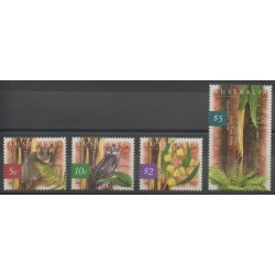 Australia - 1996 - Nb 1530/1533 - Birds - Trees